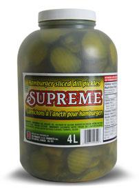 Les produits s g cornichons l 39 aneth pour hamburger for Chlorure de calcium pour piscine